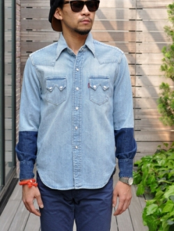 1955 Sawtooth denim shirt customized