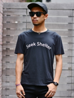 QP SEEK SHELTER TEE BLACK