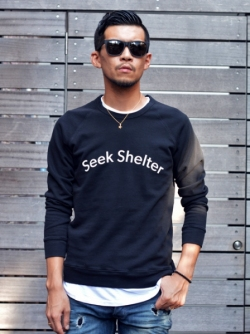 Quality Porple SEEK SHELTER SWEATSHIRT
