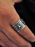 Navajo Indian Andy Cadman STAR RING