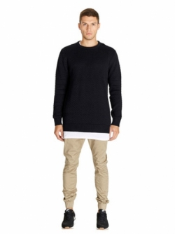 ZANEROBE TRIBECA CREW KNIT BLACK