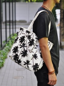 ALOHA COLLECITION Coco Palms reversible tote 再入荷