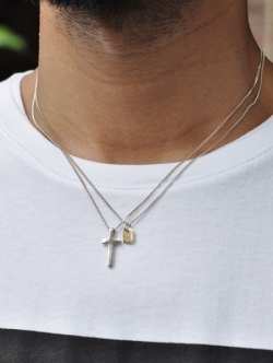 ETOFFE 別注 ARCA CROSS NECKLACE SILVER
