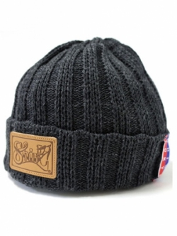 SHIRL LEATHER PATCH OUTLAST BEANIE