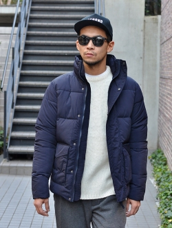 Barney Cools Quilted Jacket Navy