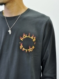 Rolla's Fire Circle L.S TEE Black