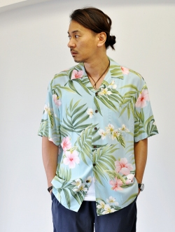 Robert J Clancey Kalaheo Hawaiian Shirt L Blue