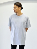 Upcycle Heavy Weight Crew Neck Tee GREY
