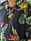 Robert J Clancey Kalaheo Hawaiian Shirt Black 再入荷