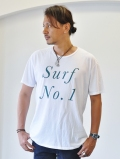 QP SURF NO1 TEE  WHITE