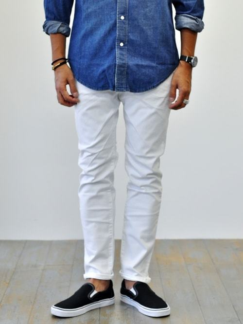 SCOTCH&SODA  Ralston - Garment Dye WHITE DENIM