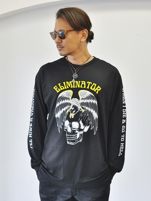 ELMINATOR LOGO LONG SLEEVE TEE BLACK