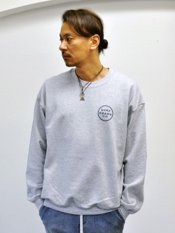 SURF BRAND LOGO CREW SWEAT GREY