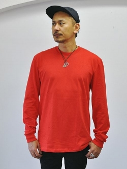 Upcycle Heavy Weight Crew Neck ロングスリーブTシャツ RED