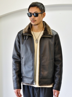 Karl Lagerfeld  ボア フライトジャケット BROWN