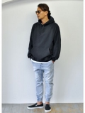 Upcycle 15.5oz Heavy Weight Pullover Parka BLACK 再入荷