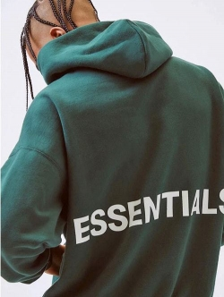 FOG - Fear Of God Essentials Pullover Hoodie D-GREEN