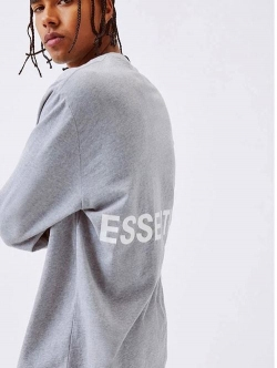 ESSENTIALS  BOX LOGO LS TEE GREY