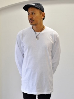 Upcycle Heavy Weight Crew Neck ロングスリーブTシャツ WHITE