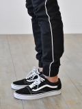 ZANEROBE SURESHOT PIPELINE JOGGER BLACK/WHITE