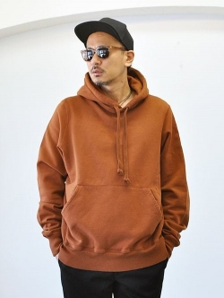 LAST HEAVY  HEAVY WEIGHT  HOODIE BROWN