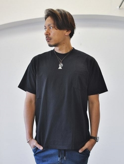 LA APPAREL 6.5oz heavy weight pocket tee Black