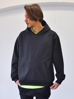 LA APPAREL 14.0oz Pullover Parka  Black 再入荷