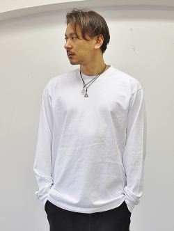 LA APPAREL 6.5oz heavy weight L/S tee White