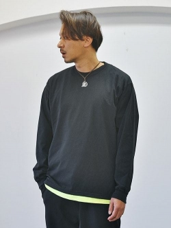 LA APPAREL 6.5oz heavy weight L/S tee Black
