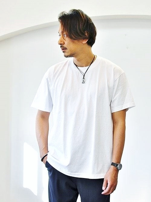 LA APPAREL 6.5oz heavy weight Tee White