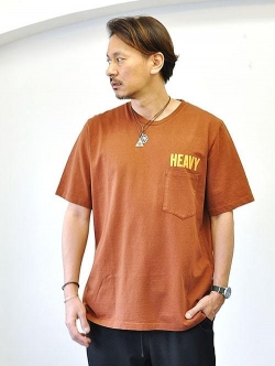 LAST HEAVY Heavy Weight Pocket Tee BROWN