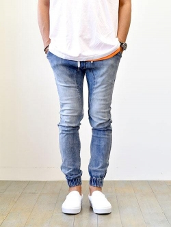 ZANEROBE Sureshot Denim jogger  Mid Blue