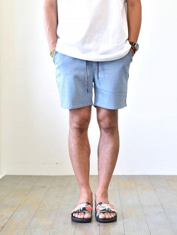Charlie Holiday   Rolled Leg Shorts BLUE DENIM