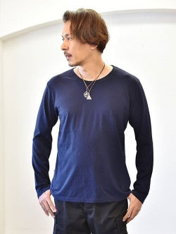 FREE CITY TRIANGLE PACH ロングスリーブTシャツ Navy