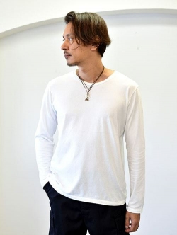 FREE CITY TRIANGLE PACH ロングスリーブTシャツ WHITE