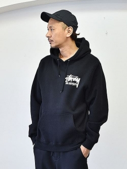 STUSSY LOS ANGELS 限定 PULL OVER BLACK