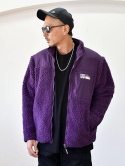 FIRST DOWN BOA FLEECE JACKET PURPLE