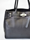 M.U.L Leather Black Tote Back Medium