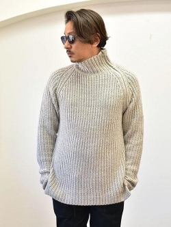 Karl lagerfeld CHUNKY KNIT TURTLE NECK WITH ZIPPER GREY