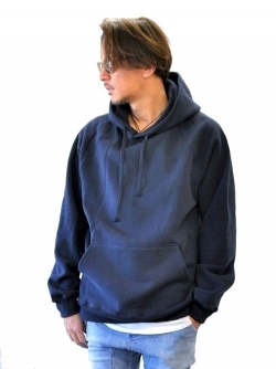 Upcycle 15.5oz Heavy Weight Pullover Parka NAVY 再入荷