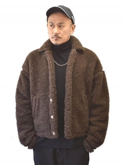 COLD BREAKER WOOL BOA JACKET BROWN