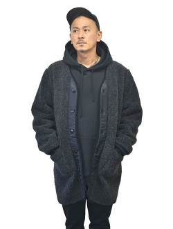 NORTH BY NORTHEAST WOOL BOA COAT  Black
