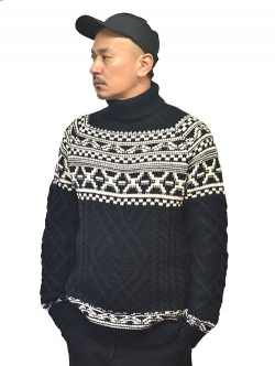Karl Lagerfeld Cabled Turtleneck