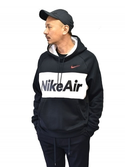 NIKE  Air Fleece  Pullover Parka BL/WHI