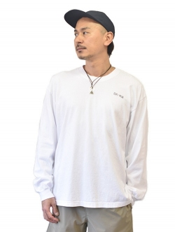 Brooklyn Machine Works Logo Long Sleeve Tee White