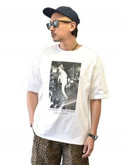 CAL O LINE × CHARLES PETERSON / Raji'S Kurt Guitar Over Head S/S Tee